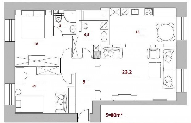 Photo #14 3-room (2 BR) apartment <u>for sale</u> in Russia, Moscow, Tverskaya str, 17