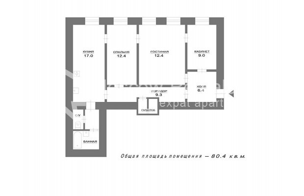 Photo #12 3-room (2 BR) apartment <u>for sale</u> in Russia, Moscow, Bolshaya Bronnaya str, 27/4